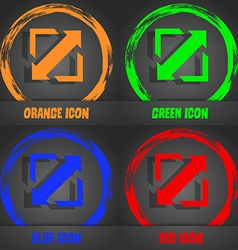Deploying video screen size icon sign Fashionable vector