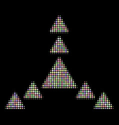 Direction triangles halftone composition of vector