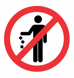 do not litter icon vector image