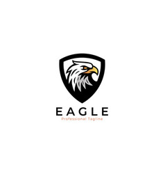eagle logo with background shield vector image