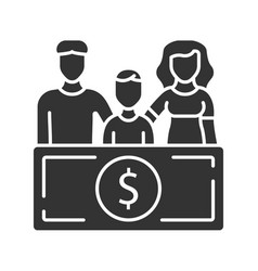 Family sponsorship immigration glyph icon vector