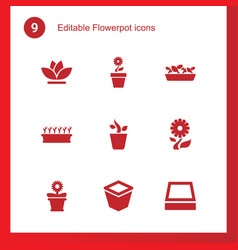flowerpot icons vector image