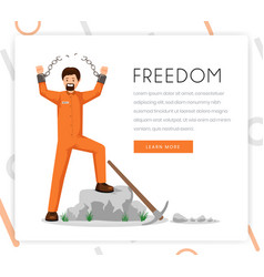 freedom fighter landing page template vector image
