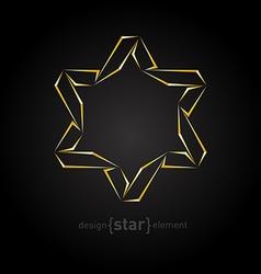 golden star on black background vector image