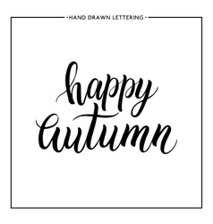 Happy autumn lettering vector