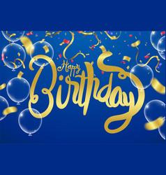 Happy birthday celebration party print design vector