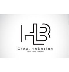 Hb h b letter logo design in black colors vector