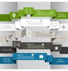 Infographic report template vector image