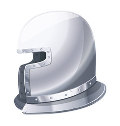 iron helmet medieval knight vector image
