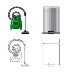 Isolated object of cleaning and service sign set vector