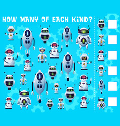 Kids game i spy with robot droids guess play vector