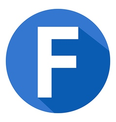Letter F in blue circle vector image