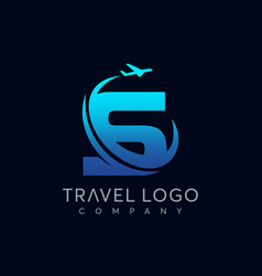 letter s tour and travel logo design vector image