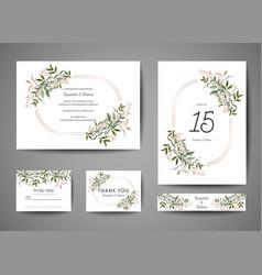 Luxury wedding save date invitation cards vector