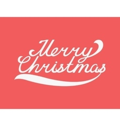 Merry Christmas typography handwriting with vector