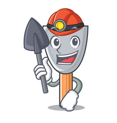 Miner cartoon putty knife in plaster vector