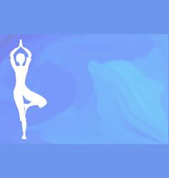 Ocean yoga scene vector