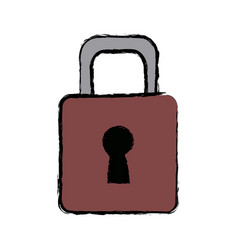 padlock security protection safety concept vector image