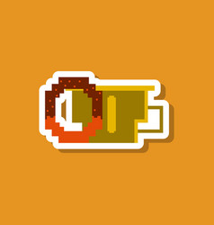 Paper sticker on stylish background cup of coffee vector