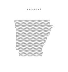 People map arkansas us state stylized vector