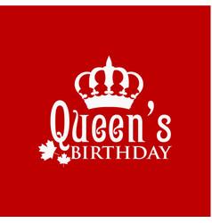 Queens birthday template design vector