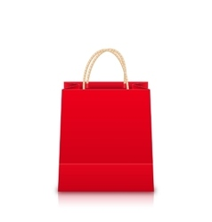 Red Empty Shopping Bag vector image vector image