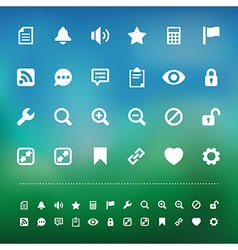 Retina interface icon set vector image