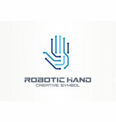 robotic hand creative symbol concept digital vector image