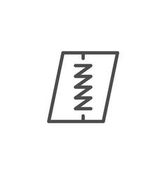 seam line icon vector image