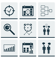 Set 9 administration icons includes project vector