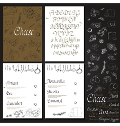 Set Cheese Menu vector image