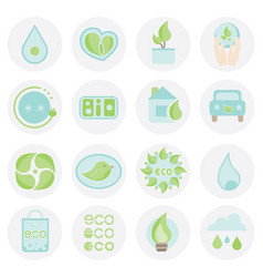Set of ecologic icon abstract elements collection vector