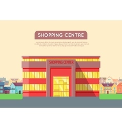 Shopping Centre Web Template in Flat Design vector image