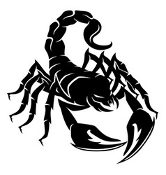 Sign of a black scorpion vector