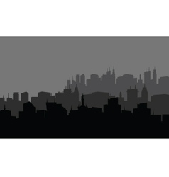 Silhouette of the city in the highlands vector