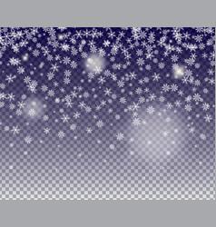 Snowflakes fall vector