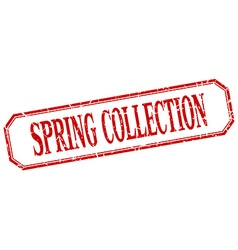 spring collection square red grunge vintage vector image