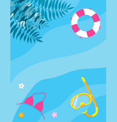 summer holidays flat design for card design vector image