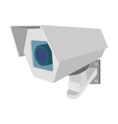 Surveillance camera cartoon icon vector image