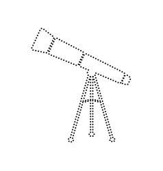 telescope simple sign black dotted icon vector image