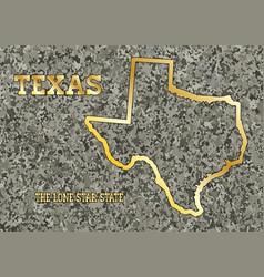 Texas in stone vector