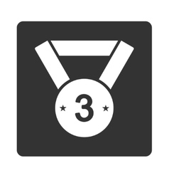 Third medal icon from Award Buttons OverColor Set vector image