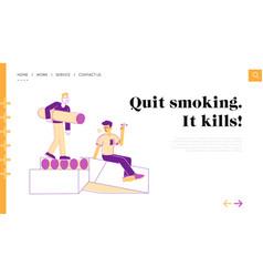 Unhealthy habit smoking nicotine tobacco vector