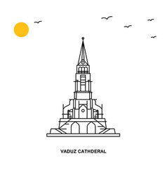 Vaduz cathderal monument world travel natural vector