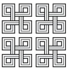 viking decorative knot - basic unweaved squares vector image