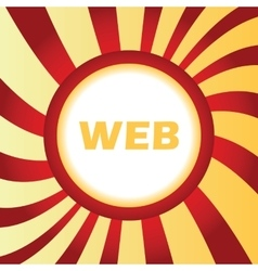 WEB abstract icon vector image
