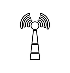 Wifi zone antenna vector image