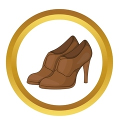 Womens shoes on platform icon vector