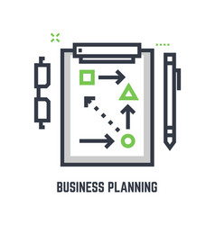 business planning table vector image