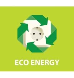 eco green energy electricity renewable concept vector image
